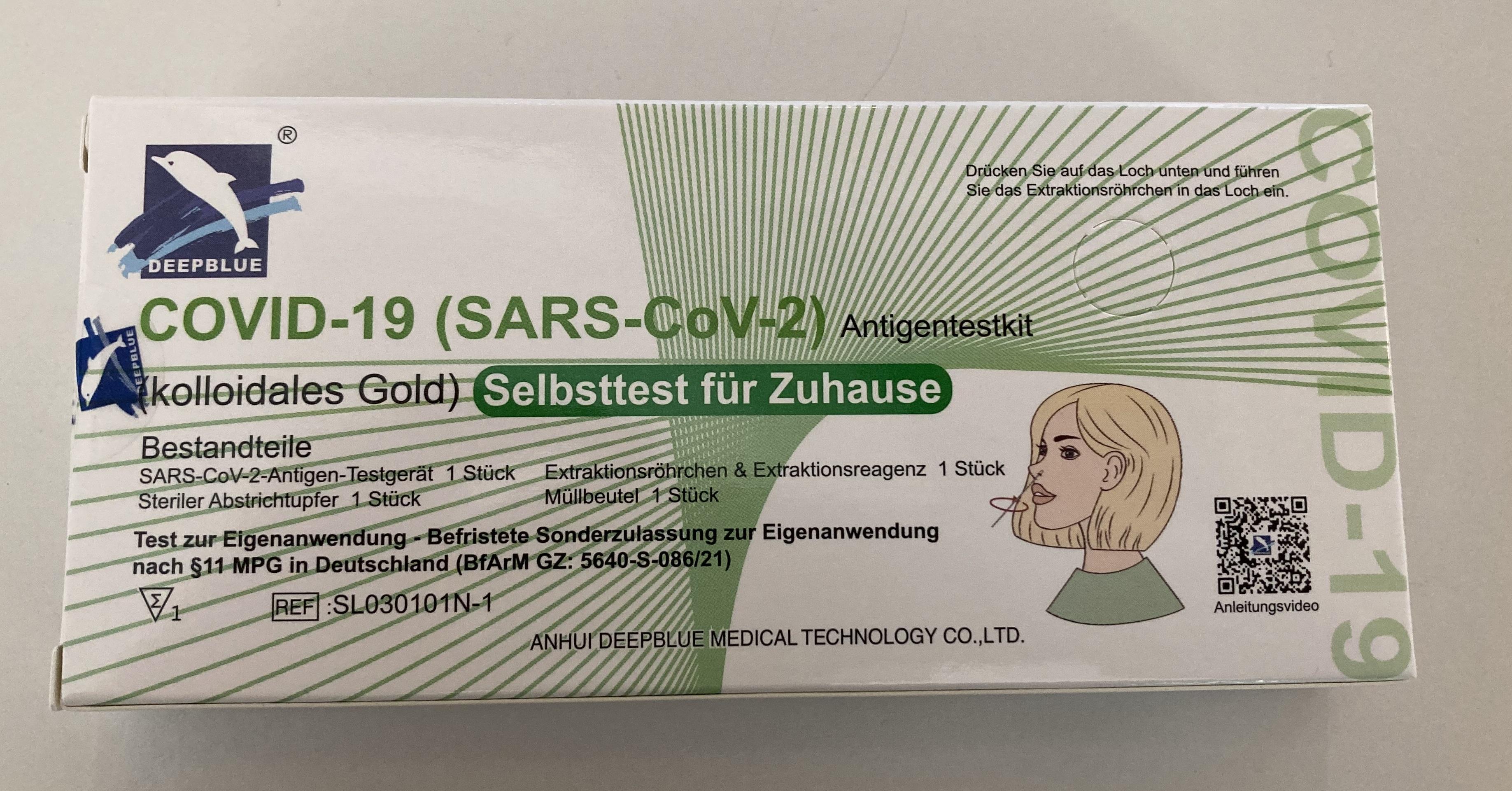 DeepBlue SARS-COV-2 COVID-19 Antigen Test Kit Schnelltest