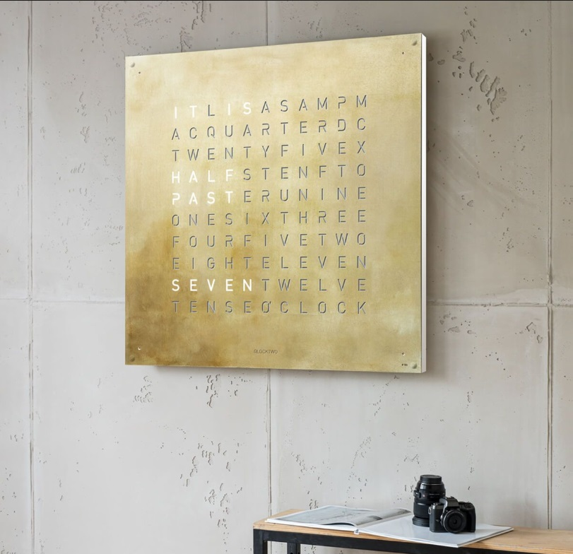 QLOCKTWO LARGE CREATOR'S EDITION SILVER & GOLD