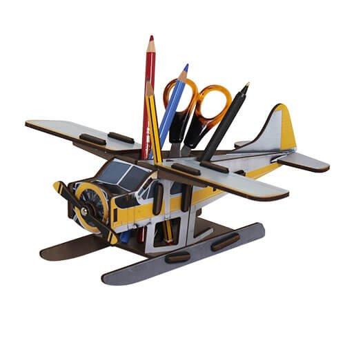 WERKHAUS Stiftebox Flugzeug für den Schreibtisch